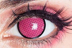 Lente de contato rosa - Pink Mesh