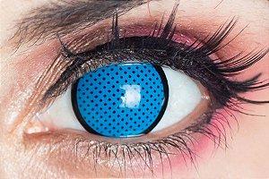Lente de contato azul - Blue Mesh