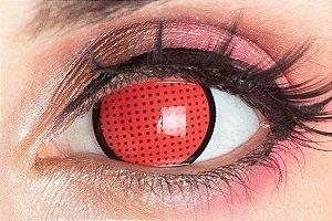 Lente de contato vermelha - Red Mesh