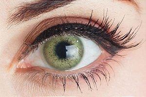 Lente de contato verde - BTS Yellow Green