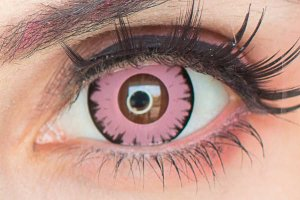 Lente de contato rosa - Wolf Pink