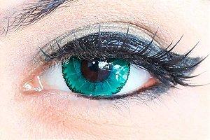 Lente de contato verde - Demon Green