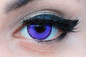 Lente de contato roxa - Demon Violet