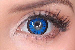 Lente de contato azul - Amber Blue