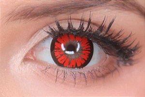 Lente de contato vermelha - Amber Red