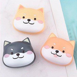 Estojo Case Porta Lentes Cachorro Shiba