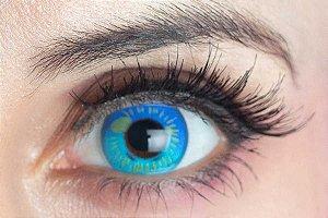 Lente de contato azul - Coscon Blue