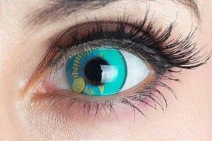 Lente de contato verde - Coscon Turquoise