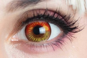 Lente de contato vermelha - Coscon Red