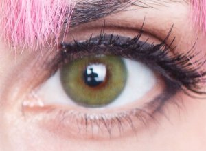 Lente de contato verde - FreshLady Fonesta