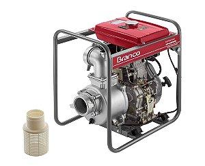 Motobomba à Diesel BD-700CF 10CV com Partida Elétrica - BRANCO