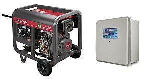 Grupo Gerador a Diesel 5,5KVA Part. Elétrica BD6500E Marca Branco + QTA 32A