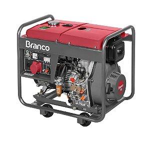 Grupo Gerador a Diesel 7.5KVA Monofásico Part. Elétrica BD8000 Marca Branco