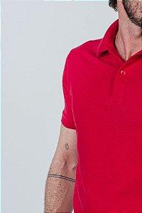 Camisa Polo com Elastano Vermelha