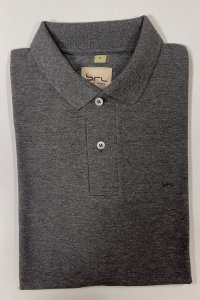 Camisa Polo com Elastano Cinza Mescla