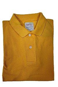 Camisa Polo com Elastano Mostarda