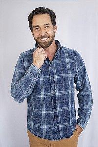 Camisa Jeans Xadrez