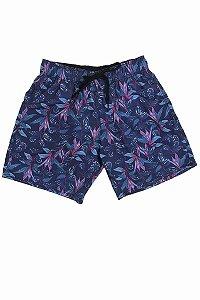 Short Borelli Flowers |Fundo Azul Marinho