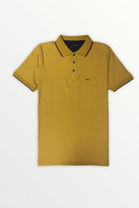 Camisa Polo Amarela| Detalhe na Gola