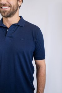 Camisa Polo Básica Azul Marinho