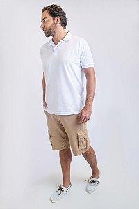 Camisa Polo Básica Branca
