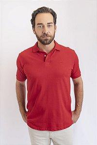 Camisa Polo Básica Vermelha