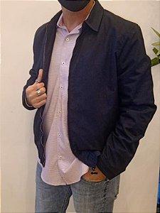 Jaqueta zipper marinho e preta