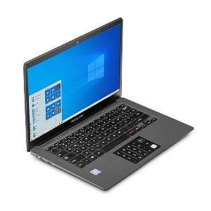 "NOTEBOOK LEGACY CLOUD INTEL ATON Z8350 QUADCORE SSD64GB 2GB 14"" HD W10 HOME CINZA"