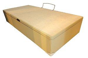 BOX BASE SOLTEIRO BAÚ KORINO BEGE / CARAMELO 88X188X35