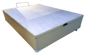 BOX BASE CASAL BAÚ KORINO BEGE / CARAMELO 138X188X35