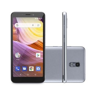 SMARTPHONE MS50G 3G QUAD CORE 8GB DUAL CHIP PRATA PRETO NB730