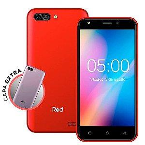 SMARTPHONE RED MOBILE QUICK 5.0 S50 8GB VERMELHO/PRATA