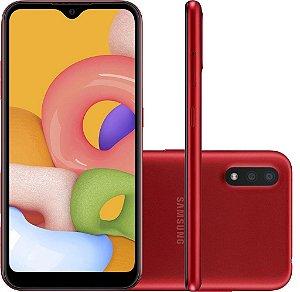 SMARTPHONE GALAXY A01 32GB VERMELHO