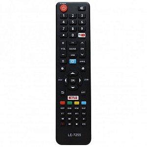 CONTROLE PARA TV SMART PHILCO NETFLIX/ YOUTUBE MOD. LE-7255