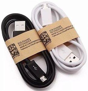 CABO USB V8 BRANCO E PRETO SIMPLES