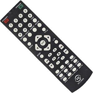 CONTROLE PARA DVD LENOX INOVOX PRETO TECLA USB