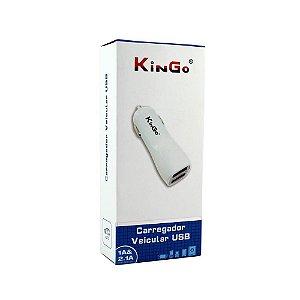 FONTE USB VEICULAR KINGO 2 ENTRADAS 2.1A
