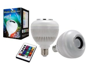 LAMPADA LED COM CONTROLE BLUETOOTH COLORIDA