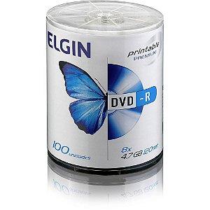 MIDIA DVD-R TUBO COM 100 UN 4.7GB 16X