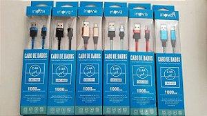 CABO INOVA USB 2.4A NYLON V8 1M
