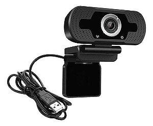 WEBCAM FULL HD 1080P USB COM SUPORTE ROSQUEADO