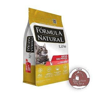 Fórmula Natural - Ração para Gatos Castrados - LIFE - Sabor Salmão - 7kg (Pacotes Individuais)