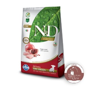 Ração N&D Prime - Frango e Romã - PUPPY MINI Embalagem: 2,5kg