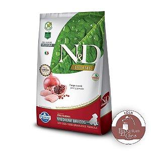 Ração N&D Prime - Frango e Romã - PUPPY MEDIUM Embalagem: 10,1kg