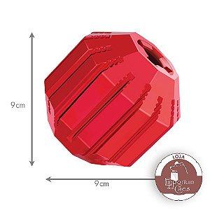 Kong Stuff-a-Ball - Brinquedo  de Borracha Vermelha - MÉDIO
