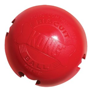 Kong Biscuit Ball - Bola Porta Petisco - Borracha Vermelha