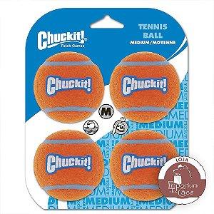 Chuckit! Kit com 4 Bolas de Tênis Tamanho MÉDIO