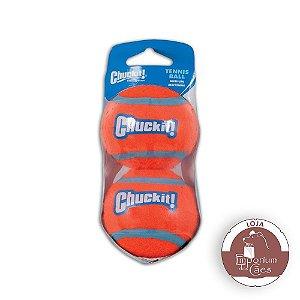 Chuckit! Kit com 2 Bolas de Tênis Tamanho MÉDIO