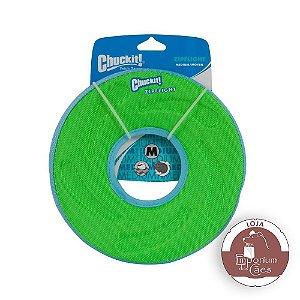 Chuckit! Disco/Frisbee  de Espuma para Cachorro - Zipflight - Tamanho MÉDIO - Verde