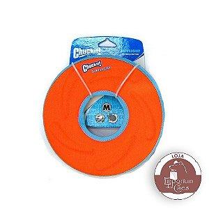 Chuckit! Disco/Frisbee  de Espuma para Cachorro - Zipflight - Tamanho MÉDIO - Laranja